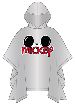 Picture of Disney Adult Mickey Family Rain Poncho with hood