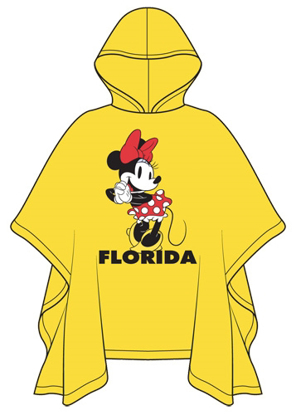 Picture of Disney Youth Hello Minnie Rain Poncho Florida Namedrop