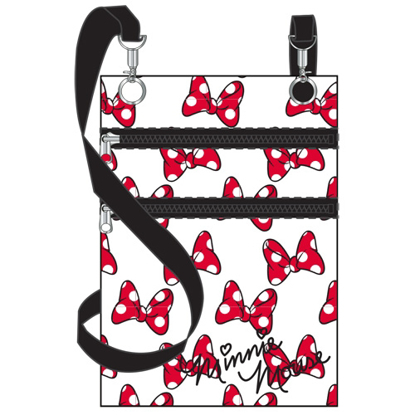 Picture of Disney Many Minnie Bows Passport Bag White
