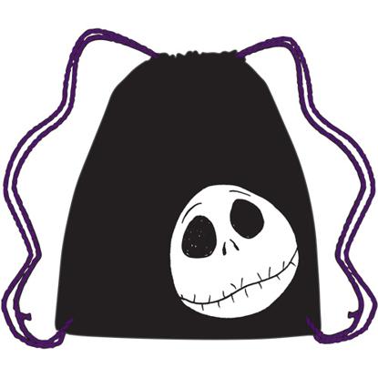 Picture of Disney Drawstring Tote Jack Skellington Face Black bag