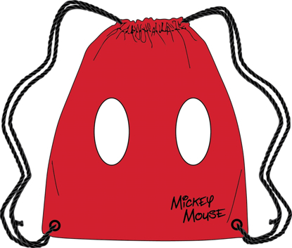 Picture of Disney Drawstring Tote Mickey Pants Red bag