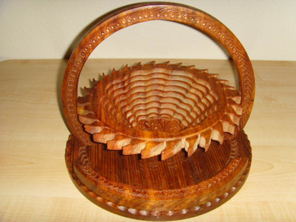 Picture of Angel Wood Handcraft Candy Fruit Decorative Kitchen Collapsible Baskets  Sun shape basket