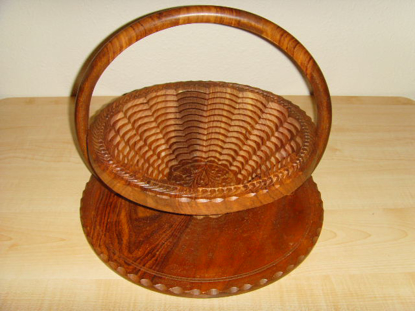 Picture of Angel Wood Handcraft Candy Fruit Decorative Kitchen Collapsible Baskets