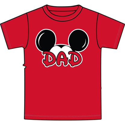 Picture of Disney  Adult Mens Tee Shirt Dad Fan Red