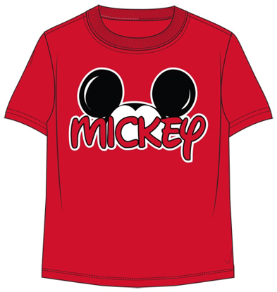 Picture of Disney Adult Mens T-Shirt Mickey Family Fan Red T-Shirt