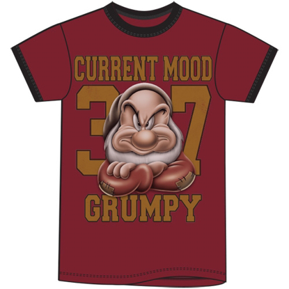 Picture of Disney Adult Ringer Tee Back Off Grumpy Mood Cardinal Black T-Shirt