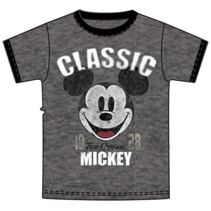 Picture of Disney Adult Unisex Ringer T Shirt A Classic Mickey Dark Gray T Shirt