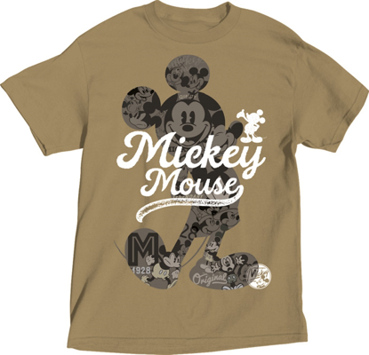 Picture of Disney Adult Unisex T-Shirt All of Me Mickey Khaki T-Shirt