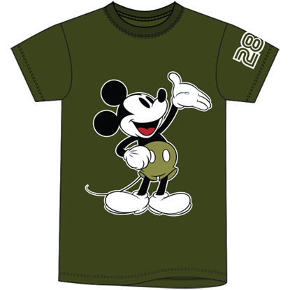 Picture of Adult Unisex Tee Casual Mickey Military Green