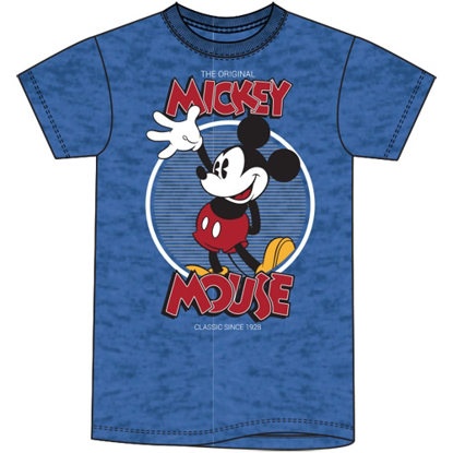 Picture of Disney Adult Unisex  T-Shirt Original Mouse Heather Royal T-Shirt