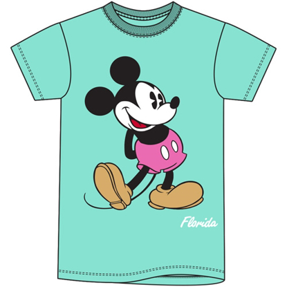 Picture of Disney Adult Women's Tee Mickey Head to Toe Mint Green T-Shirt