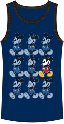 Picture of Disney Boys Tank Mickey Mouse Roll Navy Black