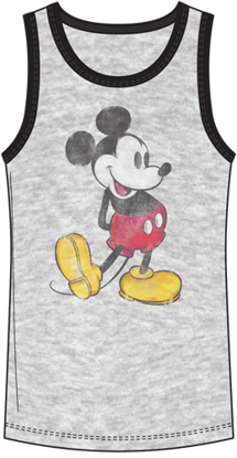 Picture of Disney Boys Tank Nostalgia Mickey Mouse Gray Black