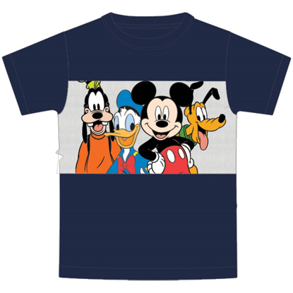 Picture of Disney Youth Boys Fab Four Mickey Goofy Pluto Donald Navy Blue T-Shirt