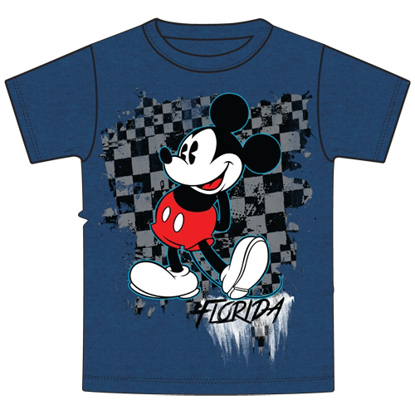 Picture of Youth Boys Tee Shirt Check it Out Mickey Blue Florida Namedrop T-shart