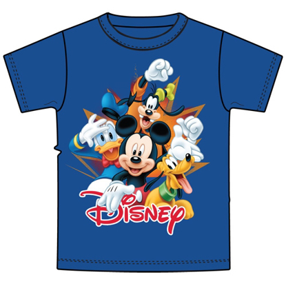 Picture of Disney Youth Burst Mickey Donald Pluto Goofy Royal Blue T-Shirt