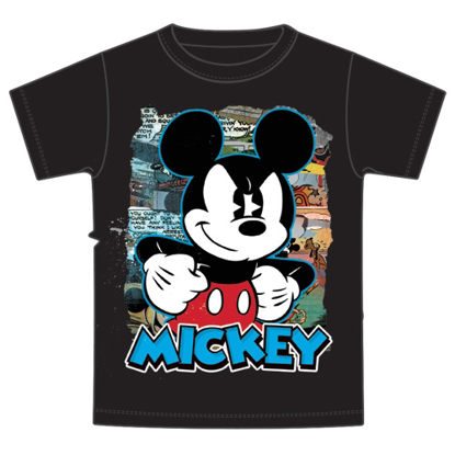 Picture of Disney Youth Comic Mickey Black T-Shirt