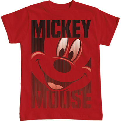Picture of Disney Youth Unisex T Shirt Mickey Silo Red