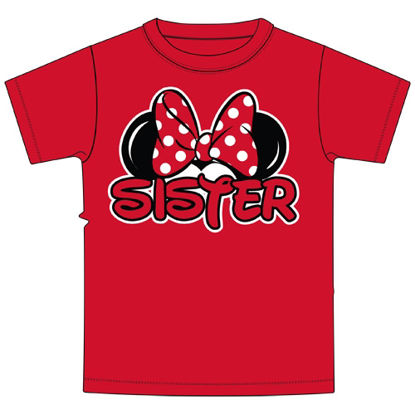 Picture of Disney Youth Sister Family Tee Red t-shirt