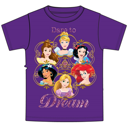 Picture of Disney Youth T-Shirt Princess Lingo Purple