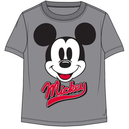 Picture of Disney Toddler Boys T Shirt Mickey Face Pump Grey