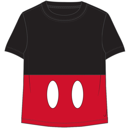 Picture of Disney Toddler Boys T Shirt Mickey Shorts Black Red