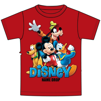 Picture of Disney Toddler Boys T Shirt Mickey and Friends Pluto Donald Goofy Red