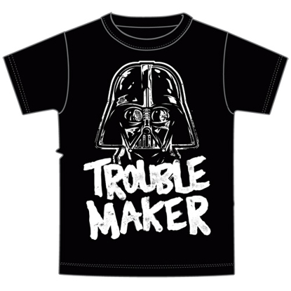 Picture of Disney Toddler Boys Trouble Maker Darth Vader Tee Gray t-shirt