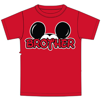 Picture of Disney Toddler Brother Family Tee Red t-shirt