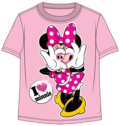 Picture of Disney Toddler Girls T-Shirt Luv Minnie Pink t-shirt