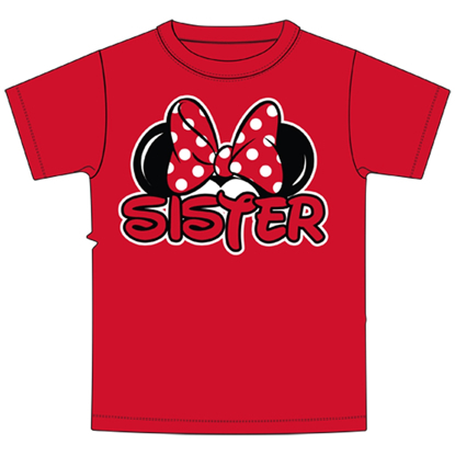 Picture of Toddler Sister Family Tee Red t-shirt