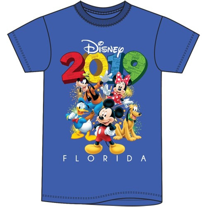 Picture of Disney Toddler Unisex T Shirt 2019 Fun Friends Mickey Goofy Donald Pluto Minnie Royal Blue Florida Namedrop