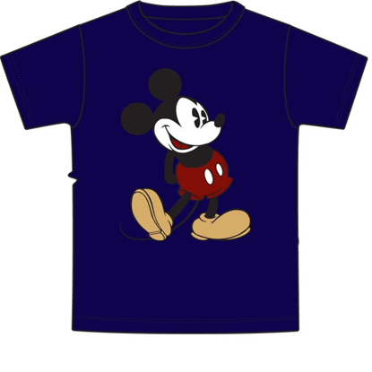 Picture of Disney Adult Mens T-Shirt Mickey Head to Toe Navy