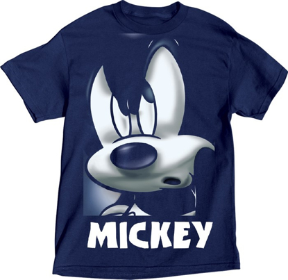 Picture of Disney Plus Men's Tee Mean Grill Mickey Navy Blue t-shirt