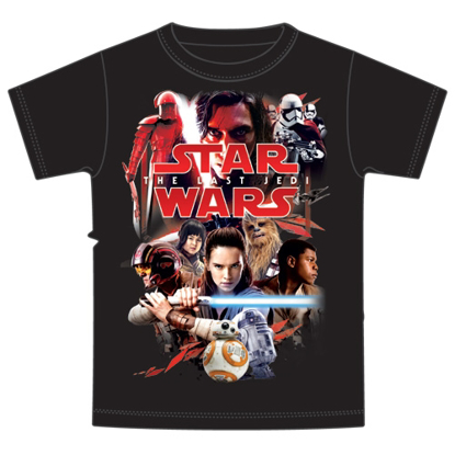 Picture of Disney Plus Size Mens The Last Jedi Red Album Star Wars Tee  Black