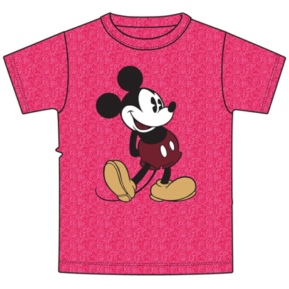 Picture of Disney Plus Size T-Shirt Mickey Head to Toe Heather Pink