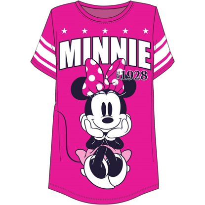 Picture of Disney Plus Size Football Tee Minnie Mouse 28 Pink