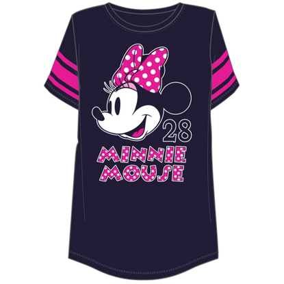 Picture of Disney Plus Size Football Tee Minnie Mouse Head Navy