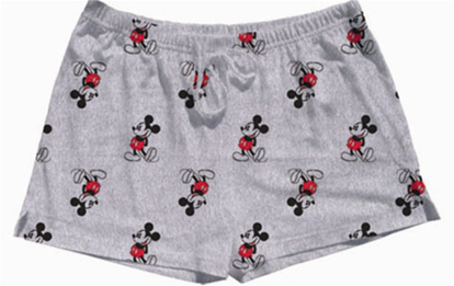 Picture of Disney Womens Short Kickback Mickey Grey Heather