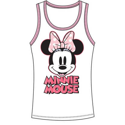 Picture of Disney Junior Tank Top Make You Smile Minnie Pink White