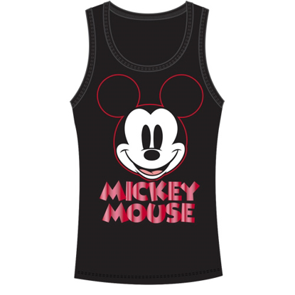 Picture of Disney Junior Tank Top Smile Mickey Black Red