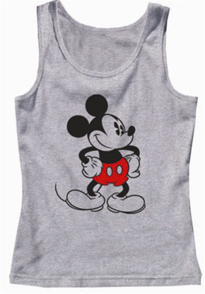 Picture of Disney Womens Tank Top Old School Mickey Grey Heather