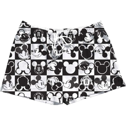 Picture of Disney Adult Womens Pajama Short Checkers Mickey White