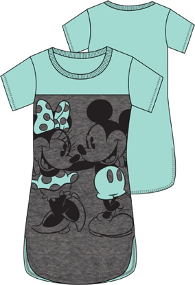 Picture of Disney Junior Scoop Neck Tunic Mickey Minnie 2 Nice