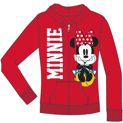 Picture of Disney Junior Minnie Think Bold Zip Up Hoodie Red