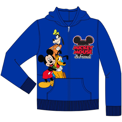 Picture of Toddler Mickey Friends Goofy Pluto Zip Up Hoodie Royal Blue