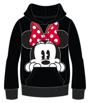 Picture of Disney Adult Minnie Peeking Pullover Hoodie Black
