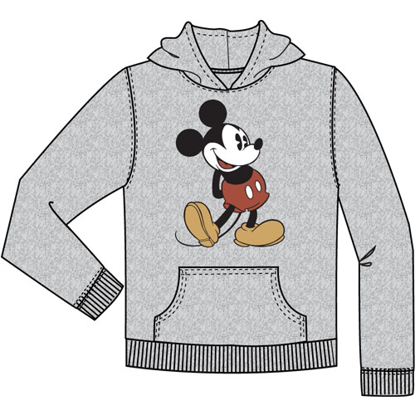 Picture of Disney Youth Head to Toe Mickey Pullover Hoodie Gray