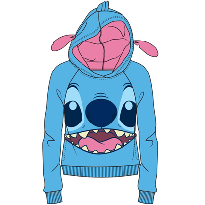 Picture of Disney Junior Cosplay Stitch with Ears Pull Over Hoodie Blue