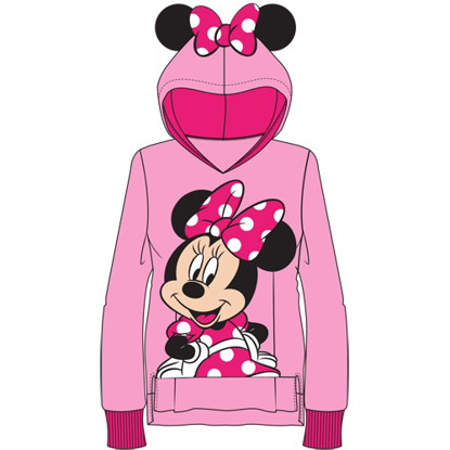 Picture of Disney Youth Sweet Minnie with Ears Pullover Hoodie Pink